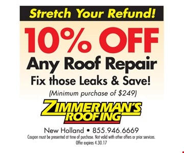 10% off any roof repair.