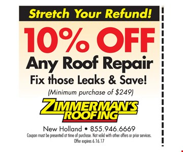 10% Off Any Roof Repair
