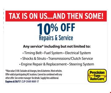 10% Off Repairs & Service