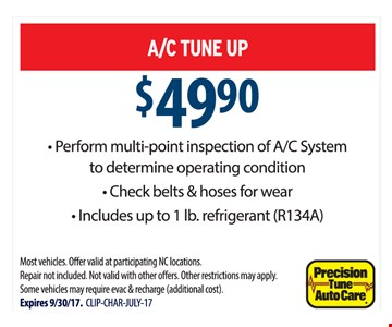 $49.90 A/C Tune Up