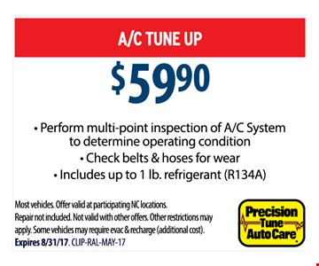 $59.90 A/C tune up