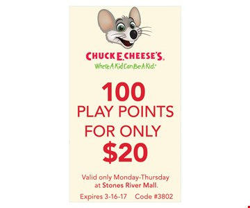 100 Play Points for Only $20