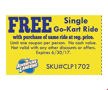 Free single Go-Kart ride