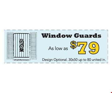 Window Guards As Low As $79
