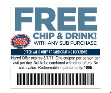 Free Chip & Drink