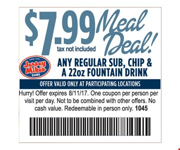 $7.99 Meal Deal