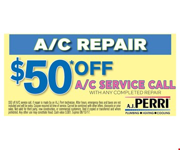 $50 off A/C service call