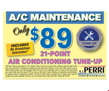 $89 21-Point Air Conditioning Tune-Up