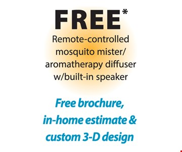 Free Remote-controlled mosquito mister/aromatherapy diffuser w/ built-in speaker