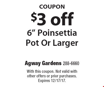 COUPON $3 off 6