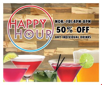 50% off any individual drinks