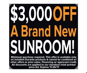$3,000 Off A Brand New Sunroom