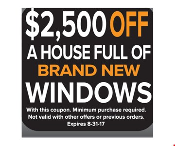 $2500 off a house full of brand new windows