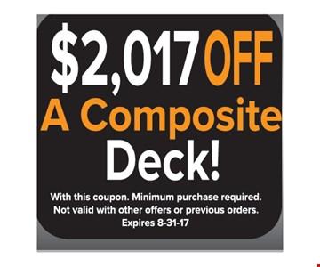 $2017 off a composite deck
