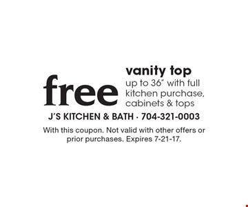 Free vanity top up to 36