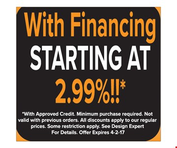 Financing Starting at 2.99%