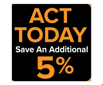 Save an additional 5%