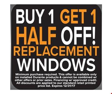 Buy 1 Get 1 Half Off Replacement Windows