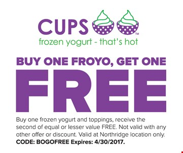 Free Froyo with purchase.