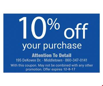 10% Off your purchase