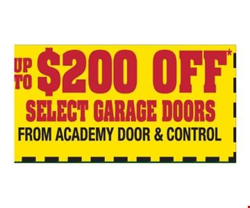 $200 off select garage doors