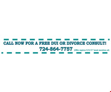 call for a Free DUI or Divorce consult