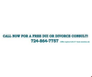 Call Now For A Free DUI Or Divorce Consult