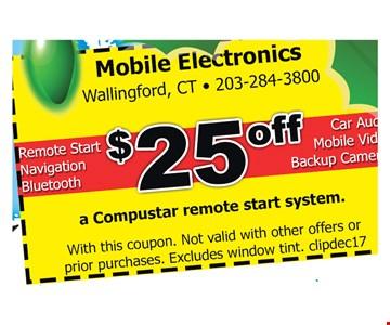 $25 off a Compustar remote start system