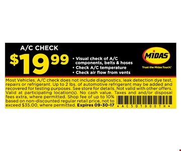 A/C CHECK for $19.99
