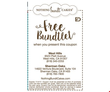 FREE Bunstlet when you present this coupon