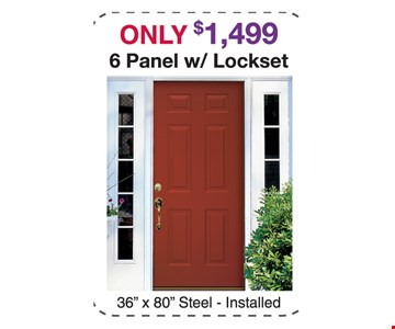 only $1499 6 panel with lockset