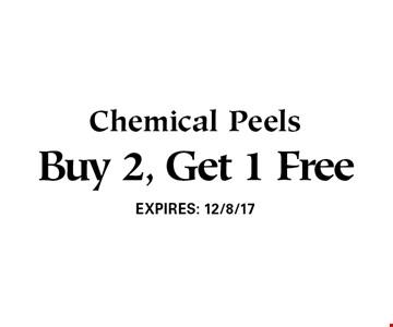 Buy 2, Get 1 Free Chemical Peels. EXPIRES: 12/8/17