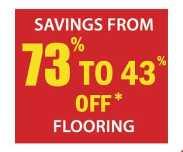73% to 43% off flooring.