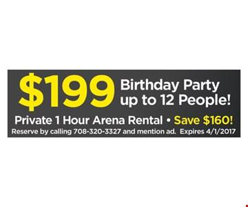 $199 birthday party.