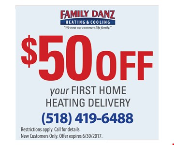 $50 off your first home heating delivery