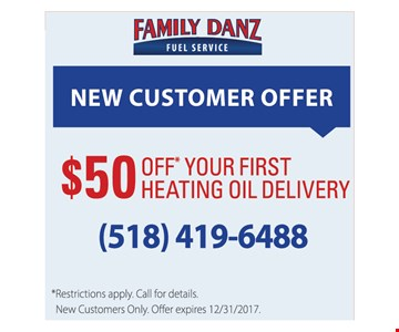 $50 off your first heating oil delivery