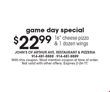 $22.99 game day special 16