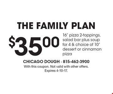 The Family Plan. $35.00 16