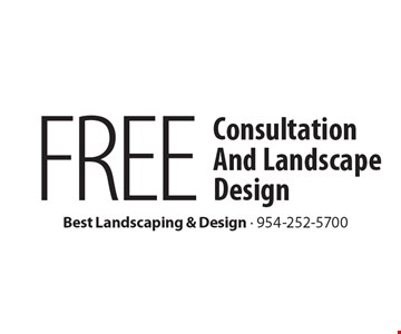 FREE Consultation And Landscape Design.