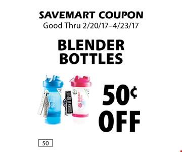 50¢ off Blender Bottles. SAVEMART COUPON. Good Thru 2/20/17-4/23/17.