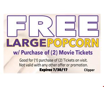 free large popcorn