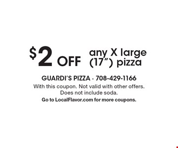 $2 Off any X large (17