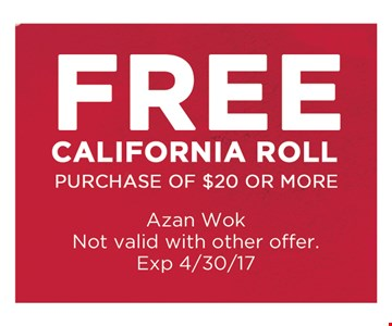 free California roll