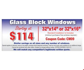 Glass Block Windows Starting At $114