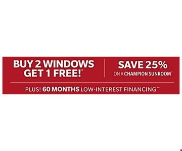 Buy 2 windows get 1 free