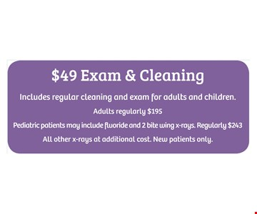 $49 Exam & Cleaning