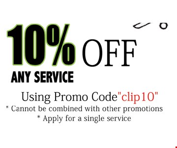 10% OFF any service