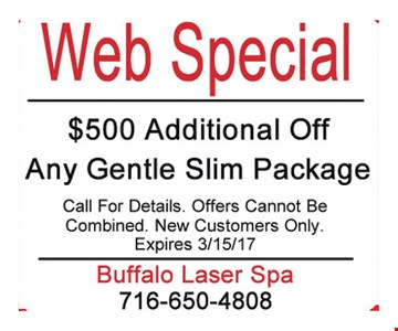 $500 additional off any gentle slim package