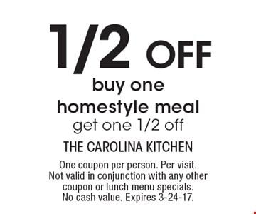 Carolina Kitchen Brandywine Md Menu