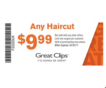 Any Haircut $9.99